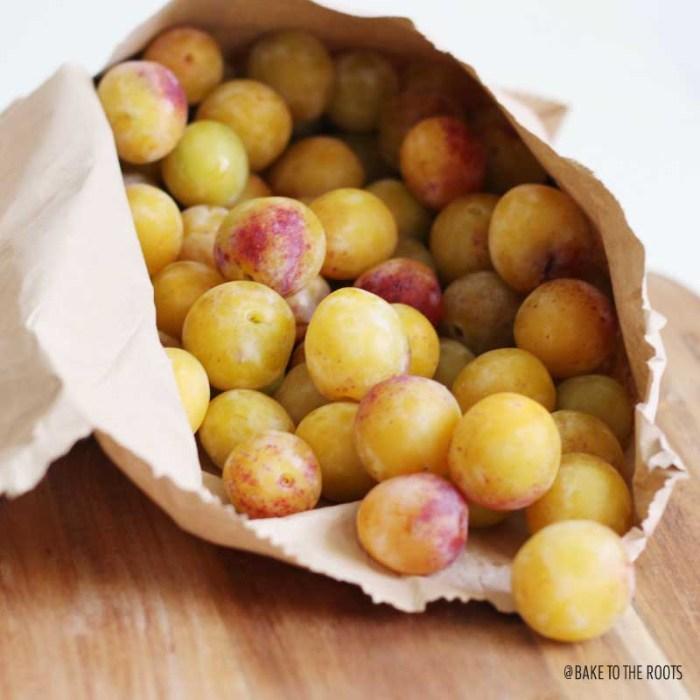 Mirabelle Plum Almond Tart | Bake to the roots