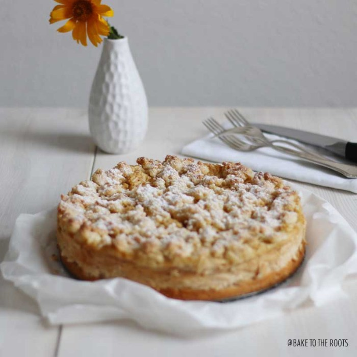 Apple Caramel Cheesecake   Bake to the roots