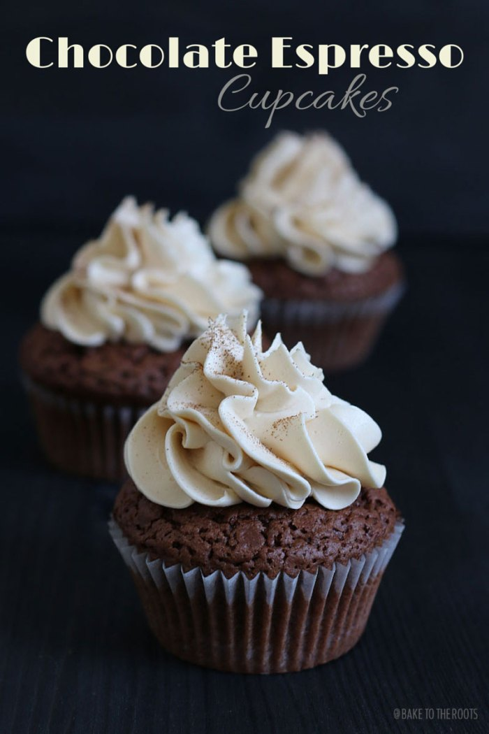 Chocolate Espresso Cupcakes | Bake to the roots