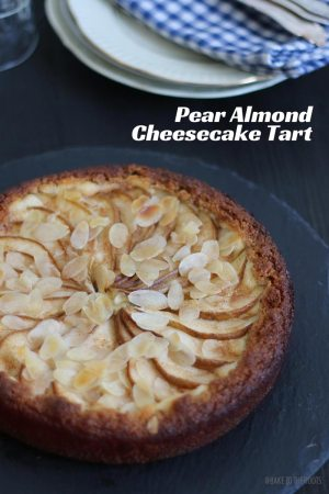 Pear Almond Cheesecake Tart