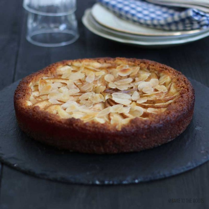 Pear Almond Cheesecake Tart   Bake to the roots