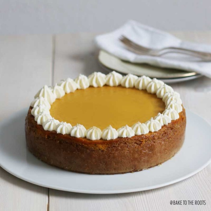 Pumpkin Cheesecake | Bake to the roots