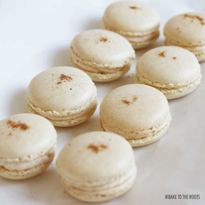 Eggnog Macarons   Bake to the roots