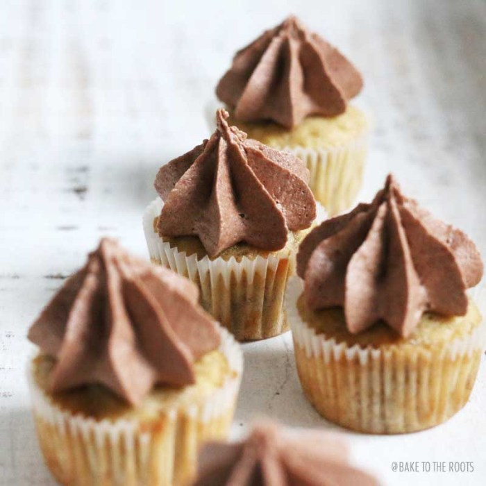 Mini Banana Cupcakes with Nutella Buttercream | Bake to the roots