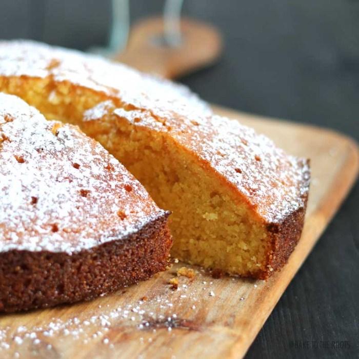 Lemon Lavender Polenta Cake   Bake to the roots