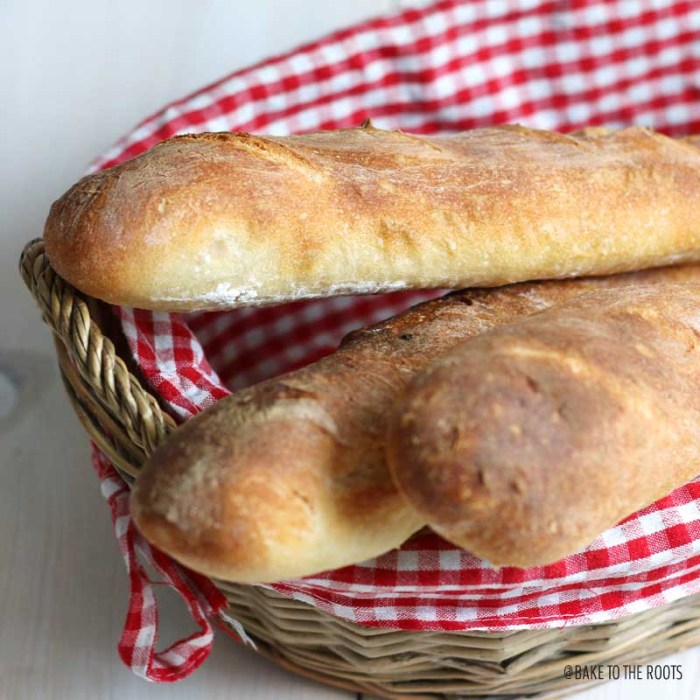 Easy Peasy Baguette | Bake to the roots