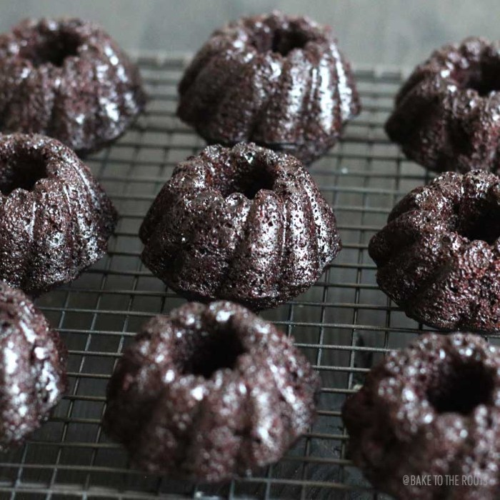 Mini Chocolate Bundt Cakes | Bake to the roots