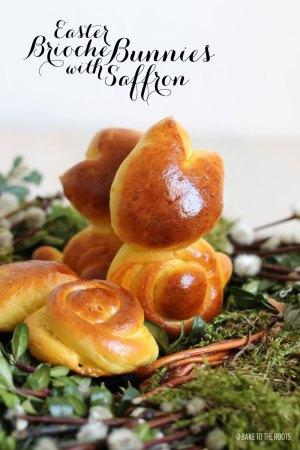 Brioche Osterhasen mit Safran