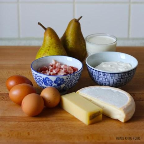 Reblochon Pear Quiche | Bake to the roots