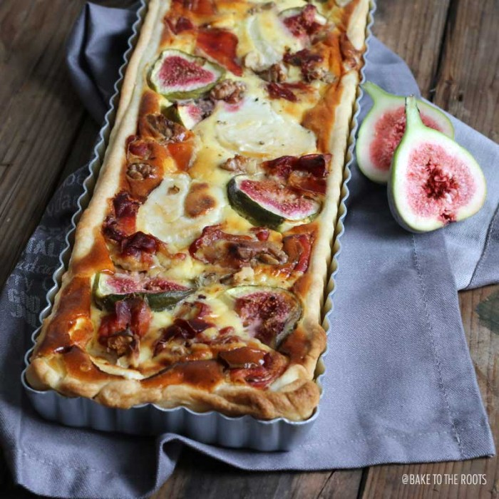 Goat Cheese Quiche with Serrano and Figs   Bake to the roots