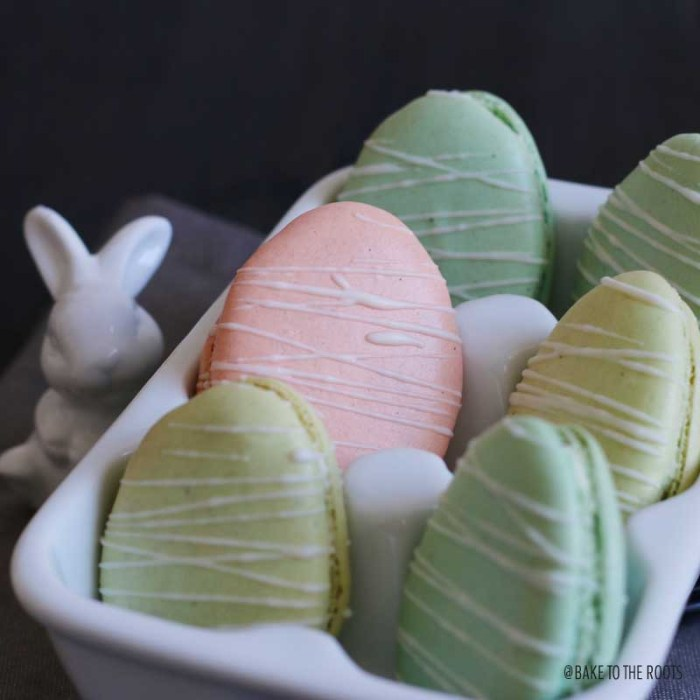 Easter Egg Macarons with Lemon Buttercream and Lemon Curd | Bake to the roots