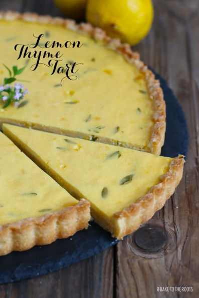 Lemon Thyme Tart   Bake to the roots