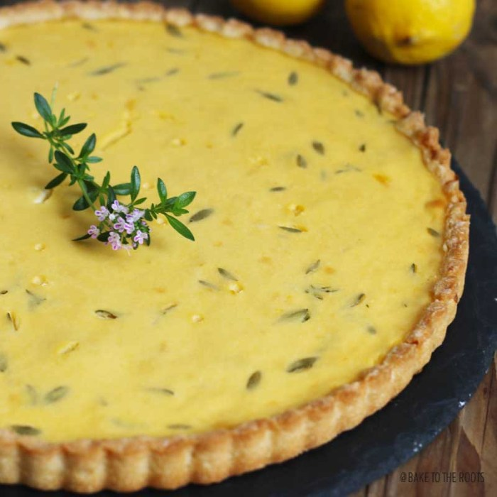 Lemon Thyme Tart | Bake to the roots