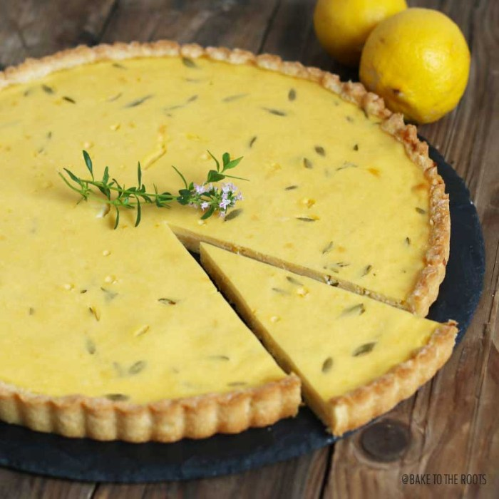 Lemon Thyme Tart | Bake to the roots