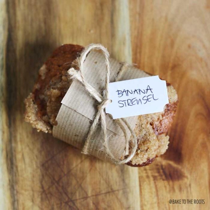 Mini Banana Streusel Loaves   Bake to the roots