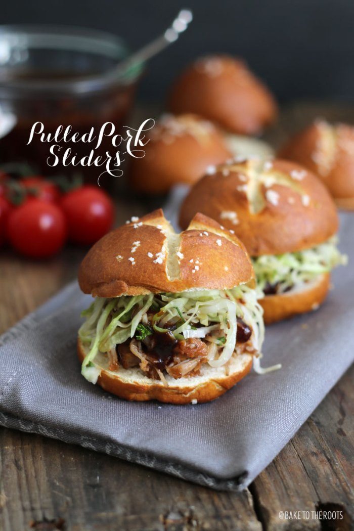 Pulled Pork Sliders with Krautsalat | Bake to the roots