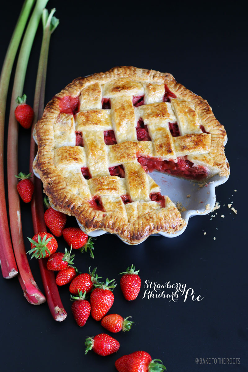 Erdbeer Rhabarber Kuchen Bake To The Roots