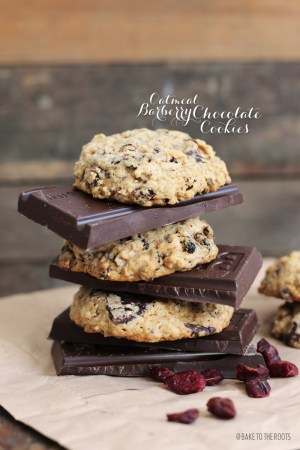 Barberry Oatmeal Chocolate Cookies