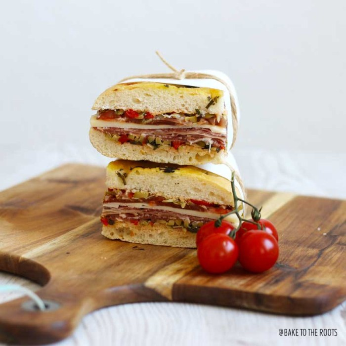 Muffaletta Sandwich | Bake to the roots