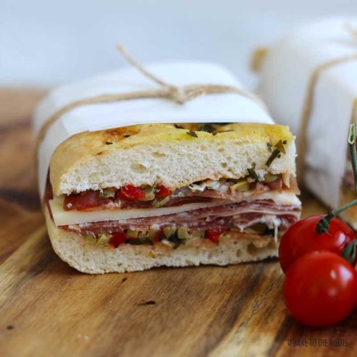 Muffaletta Sandwich | Bake to the roots