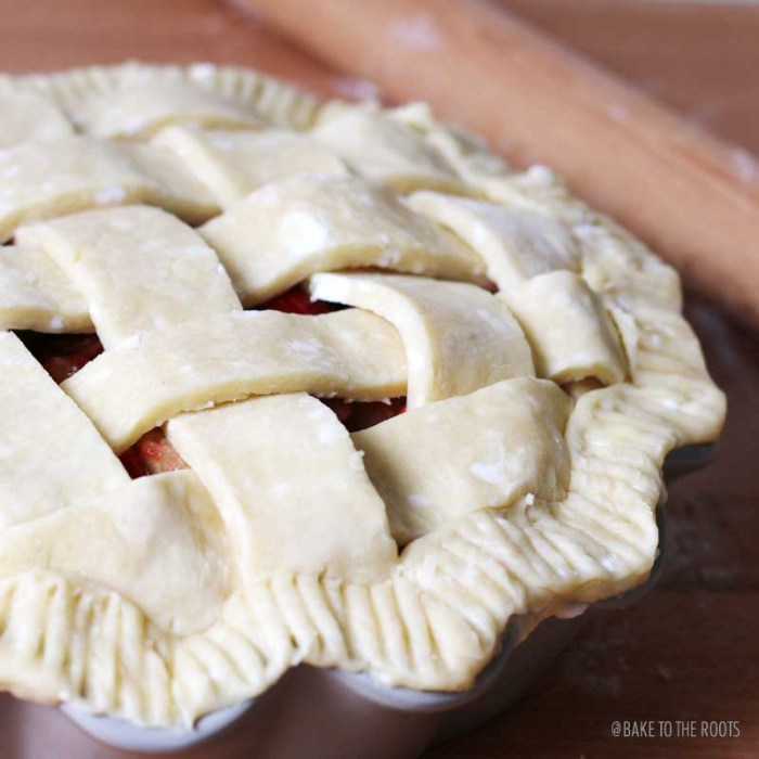 Strawberry Rhubarb Pie | Bake to the roots