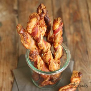 Cheesy Bacon Wrapped Puff Pastry Sticks | Bake to the roots