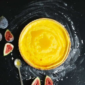 Ricotta Tart with Honey and Figs   Bake to the roots