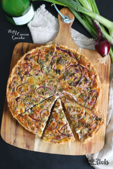 Herbs & Onion Quiche | Bake to the roots