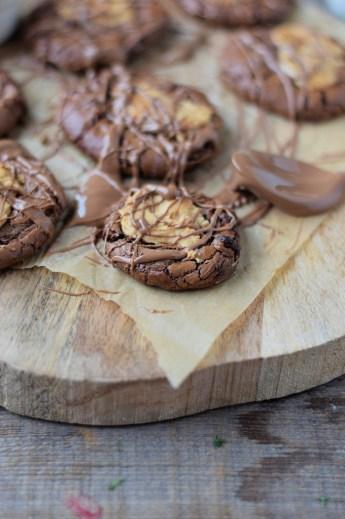 Brownie Peanut Butter Cookies by Knusperstübchen