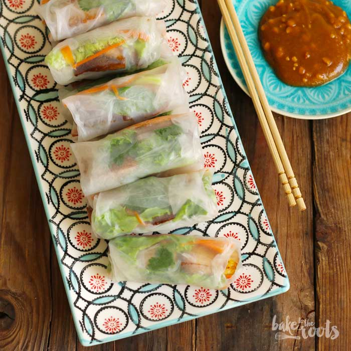 Vegan Summer Rolls | Bake to the roots