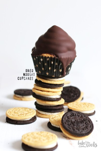 Oreo Nougat Cupcakes | Bake to the roots