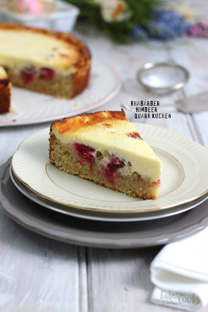 Rhubarb Raspberry Cheesecake | Bake to the roots