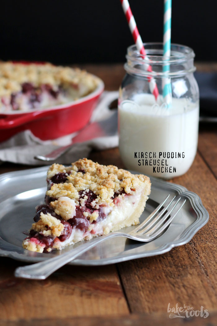 Cherry Custard Streusel Pie | Bake to the roots