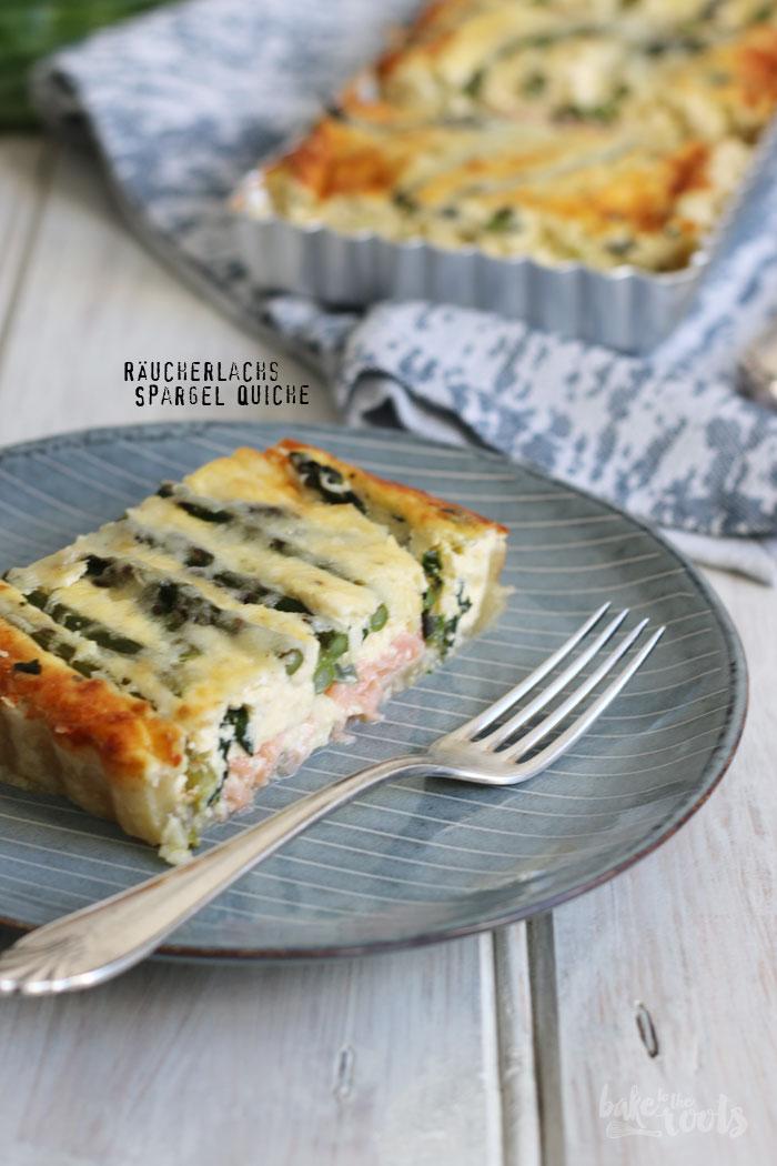 Quiche mit Räucherlachs und grünem Spargel | Bake to the roots