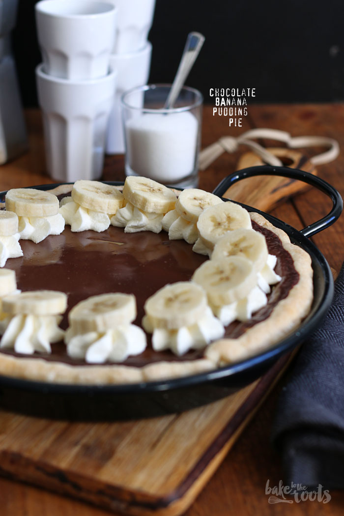 Chocolate Banana Pudding Pie | Bake to the roots