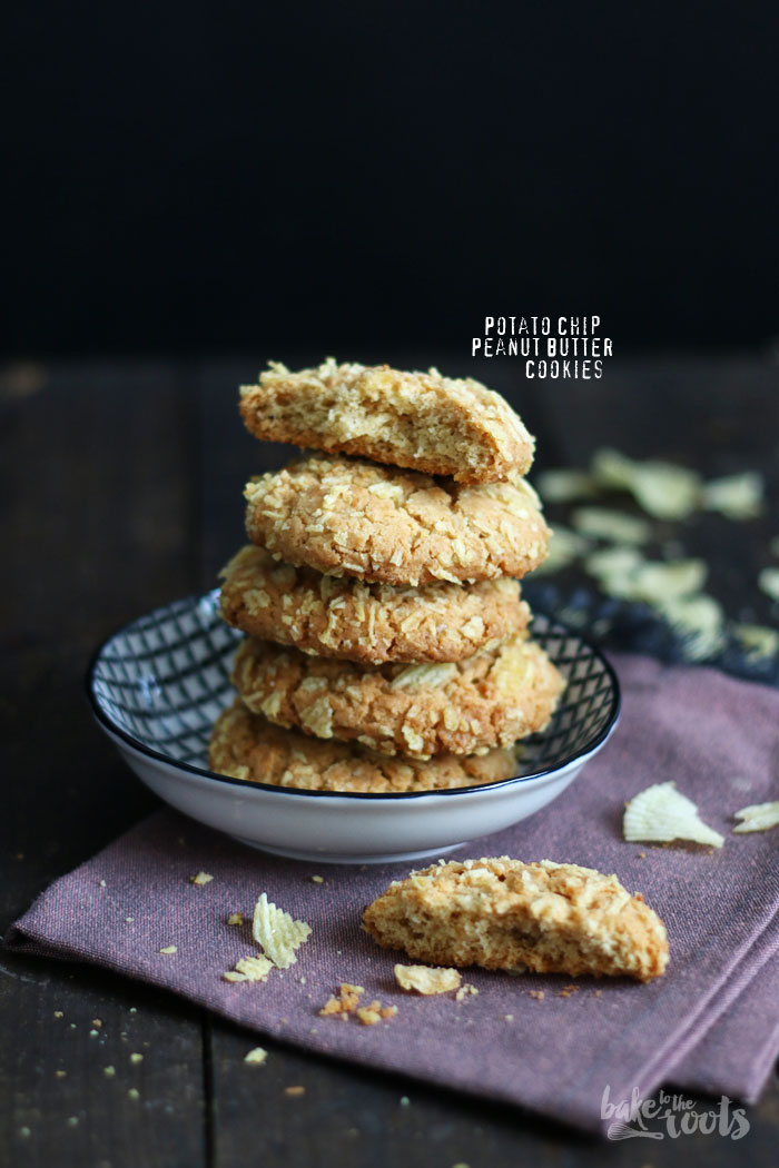 Potato Chip Peanut Butter Cookies | Bake to the roots