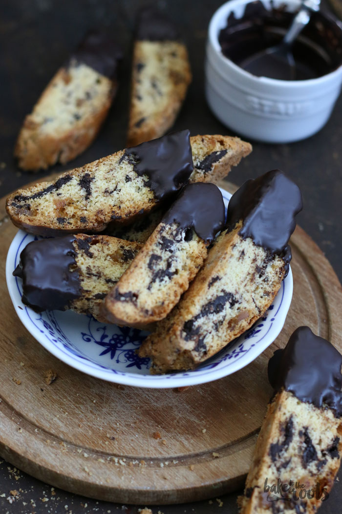 Chocolate Ginger Biscotti | Bake to the roots