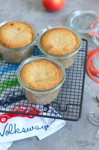 Apfelkuchen im Glas   Bake to the roots