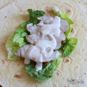 BLT Caesar Chicken Wraps | Bake to the roots