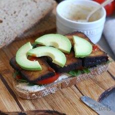 Smoked Tofu Avocado Sandwich | Bake to the roots