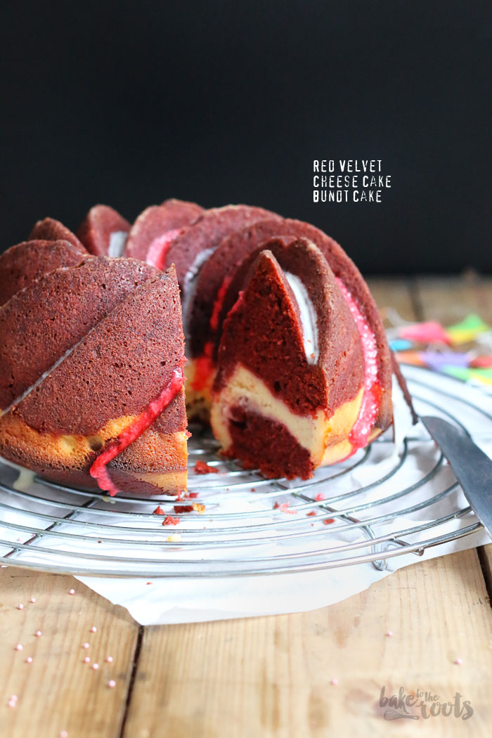 Red Velvet Cheesecake Bundt Cake | Bake to the roots