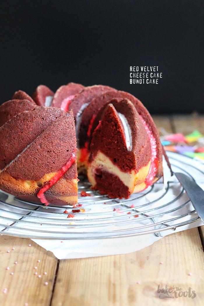 Red Velvet Cheesecake Bundt Cake | Bake to the roots