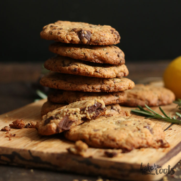 Rosemary Lemon Chocolate Cookies | Bake to the roots