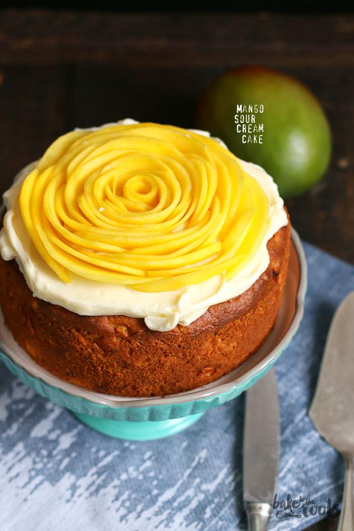 Mango Sour Cream Kuchen Bake To The Roots