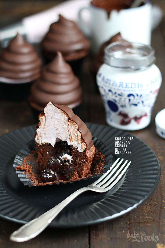 Chocolate Amarena Cherry Hi-Hat Cupcakes   Bake to the roots