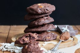 Double Chocolate Coconut Cookies | Bake to the roots