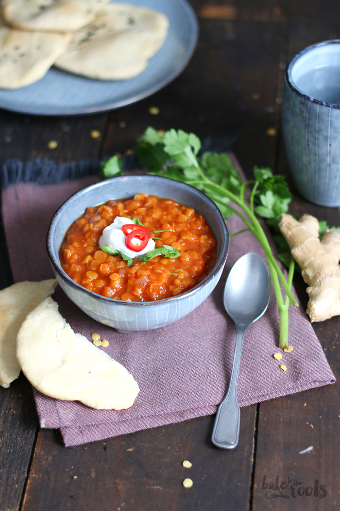 Linsensuppe mit Fladenbrot   Bake to the roots