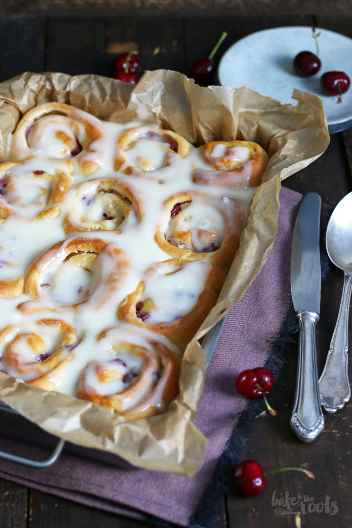 Cherry White Chocolate Rolls | Bake to the roots