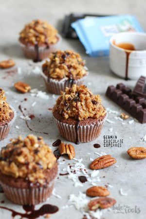 German Chocolate Coconut Cupcakes