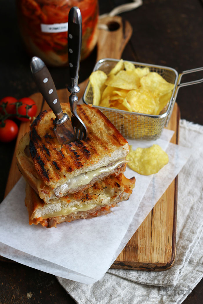 Kimchi Grilled Cheese | Bake to the roots
